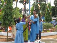 India Flag raising.