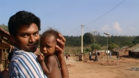 Vasu with village infant