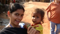 Anita with village infant